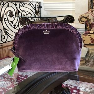 NWT kate spade Marcy dawn place velvet clutch